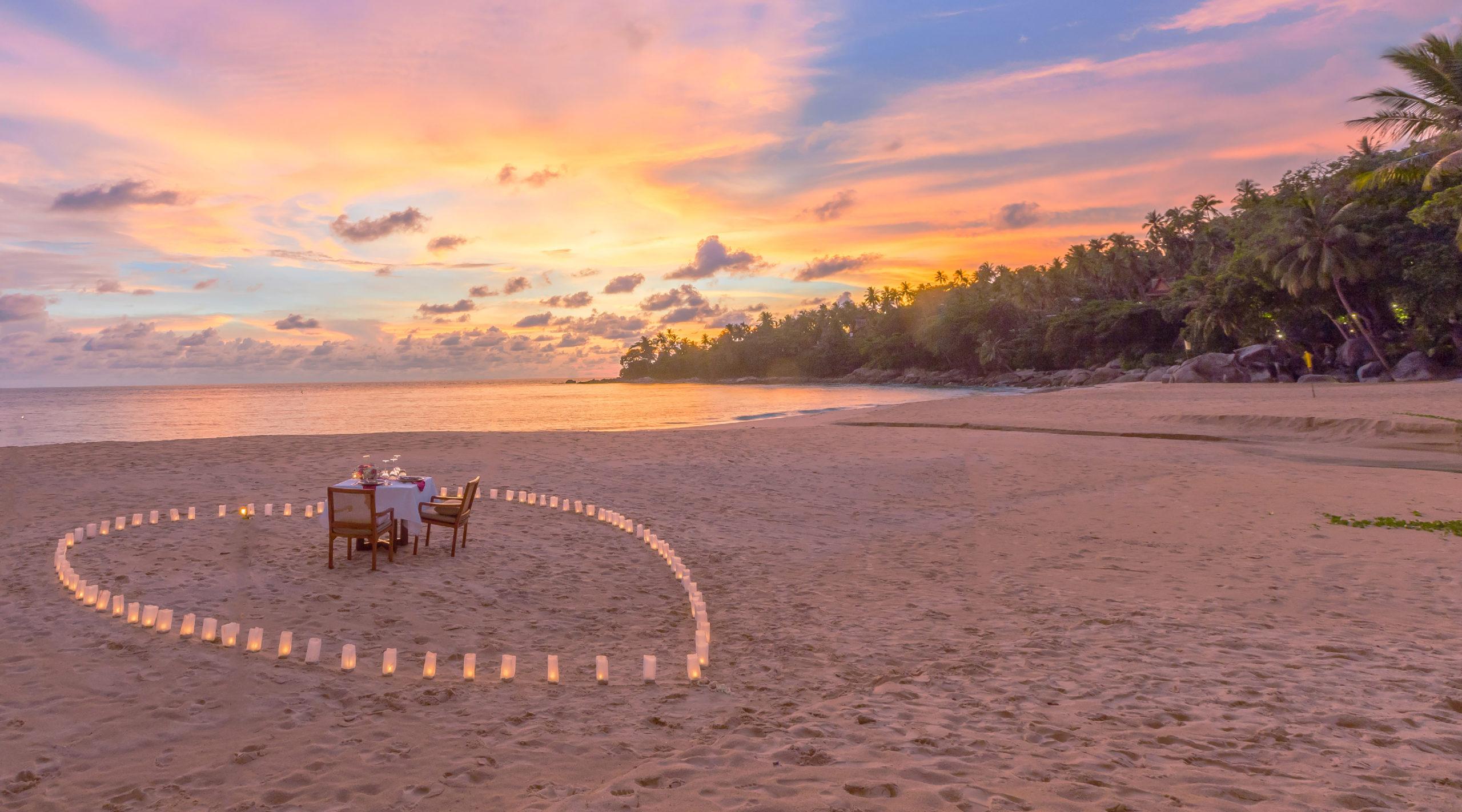 Dining, Romantic Beach Dinner